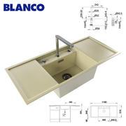 Zlew BLANCO ALAROS 6 S i kran BLANCO ELOSCOPE-F II 3d model