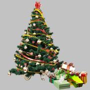 Árvore de Natal com presentes 3d model