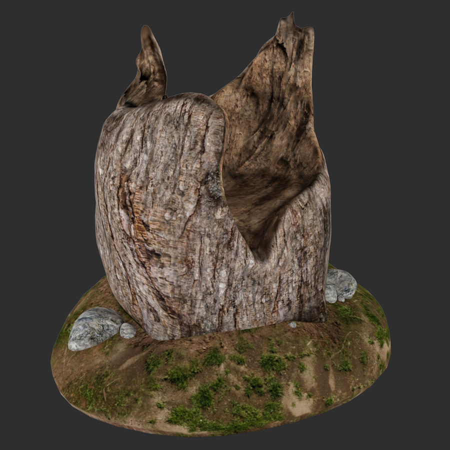 Ağaç kütüğü royalty-free 3d model - Preview no. 4