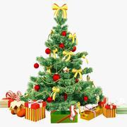 Árvore de Natal e presentes 3d model