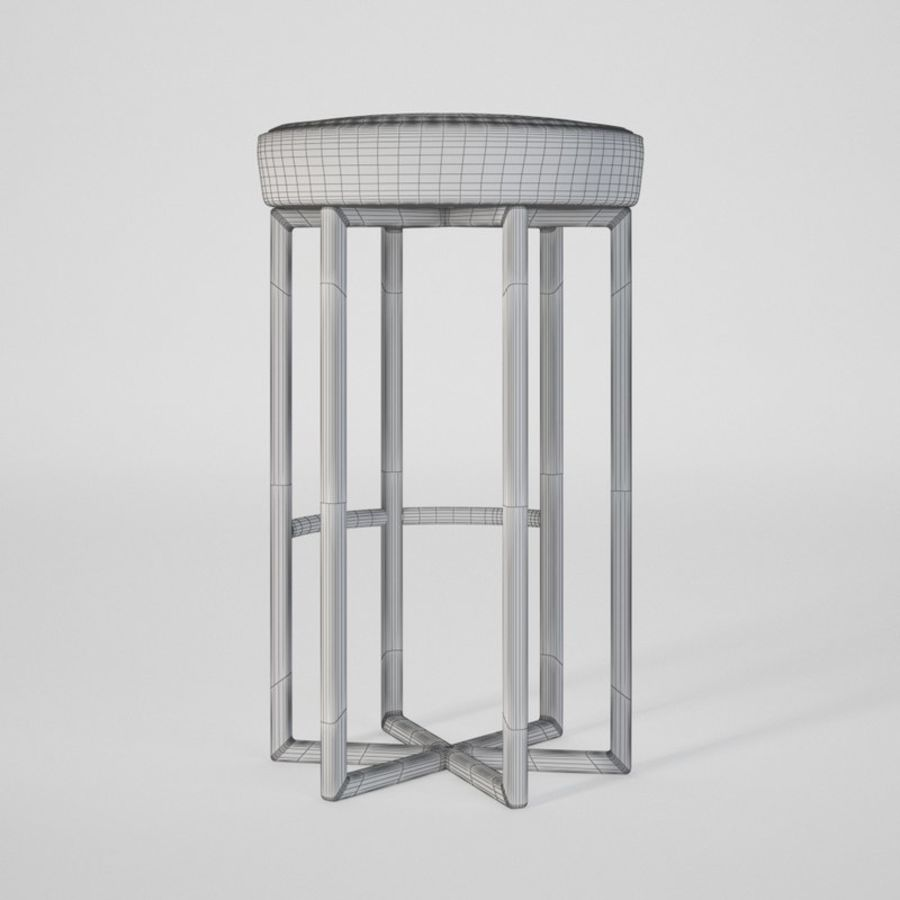 Astra bar sandalyesi royalty-free 3d model - Preview no. 3