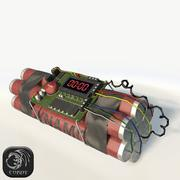Bomb with timer low poly 3d model