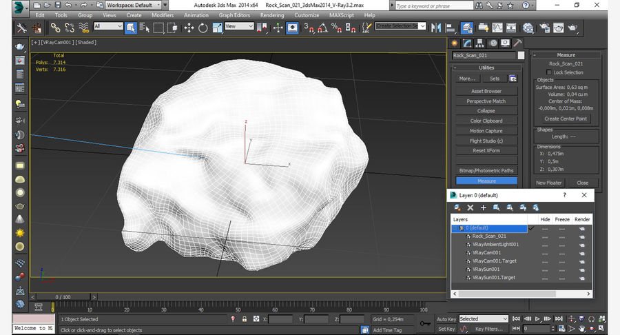 Rock Scan 021 royalty-free 3d model - Preview no. 15
