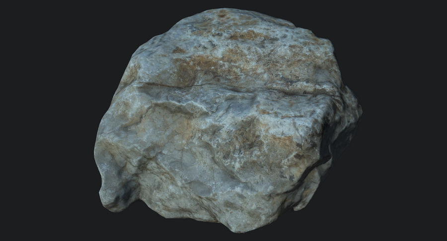 Rock Scan 021 royalty-free 3d model - Preview no. 3