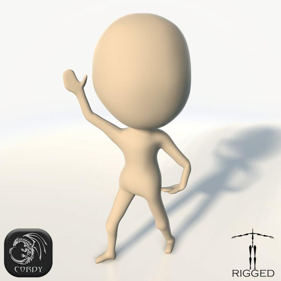 Malha de base manipulada Chibi royalty-free 3d model - Preview no. 1