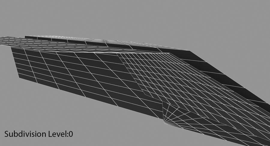 Avião de papel royalty-free 3d model - Preview no. 14