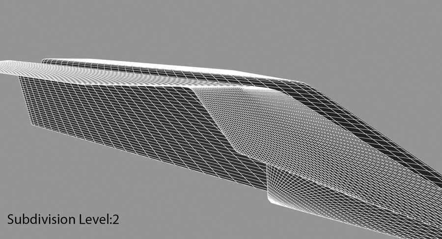 Avião de papel royalty-free 3d model - Preview no. 18