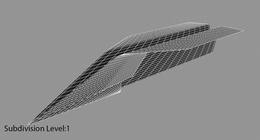Avião de papel royalty-free 3d model - Preview no. 15