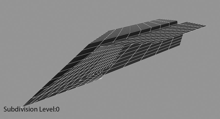Avião de papel royalty-free 3d model - Preview no. 6