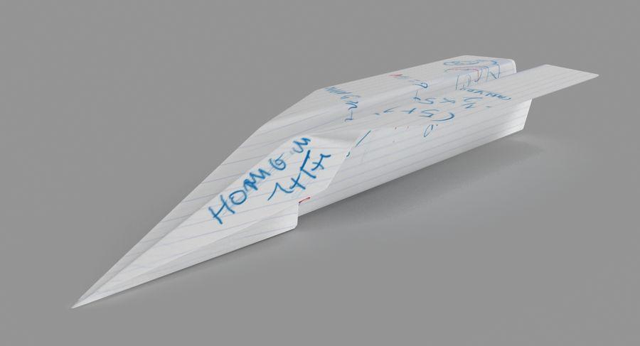 Avião de papel royalty-free 3d model - Preview no. 2