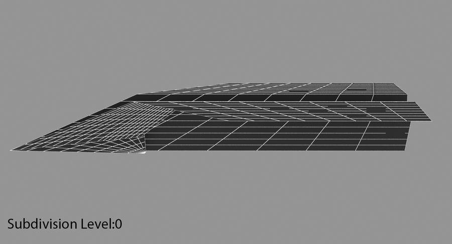 Avião de papel royalty-free 3d model - Preview no. 8