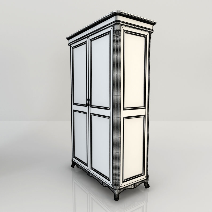 Шкаф-купе royalty-free 3d model - Preview no. 4