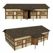 Old Medieval House 3d model