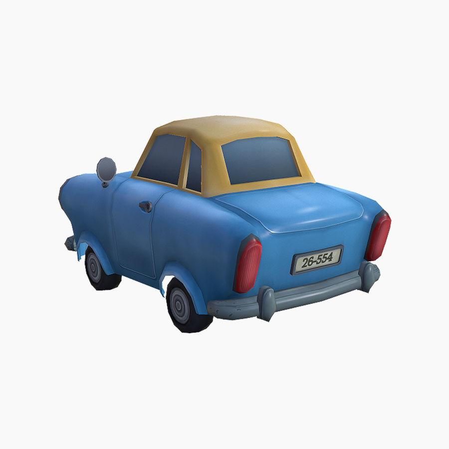低ポリ漫画車 royalty-free 3d model - Preview no. 4