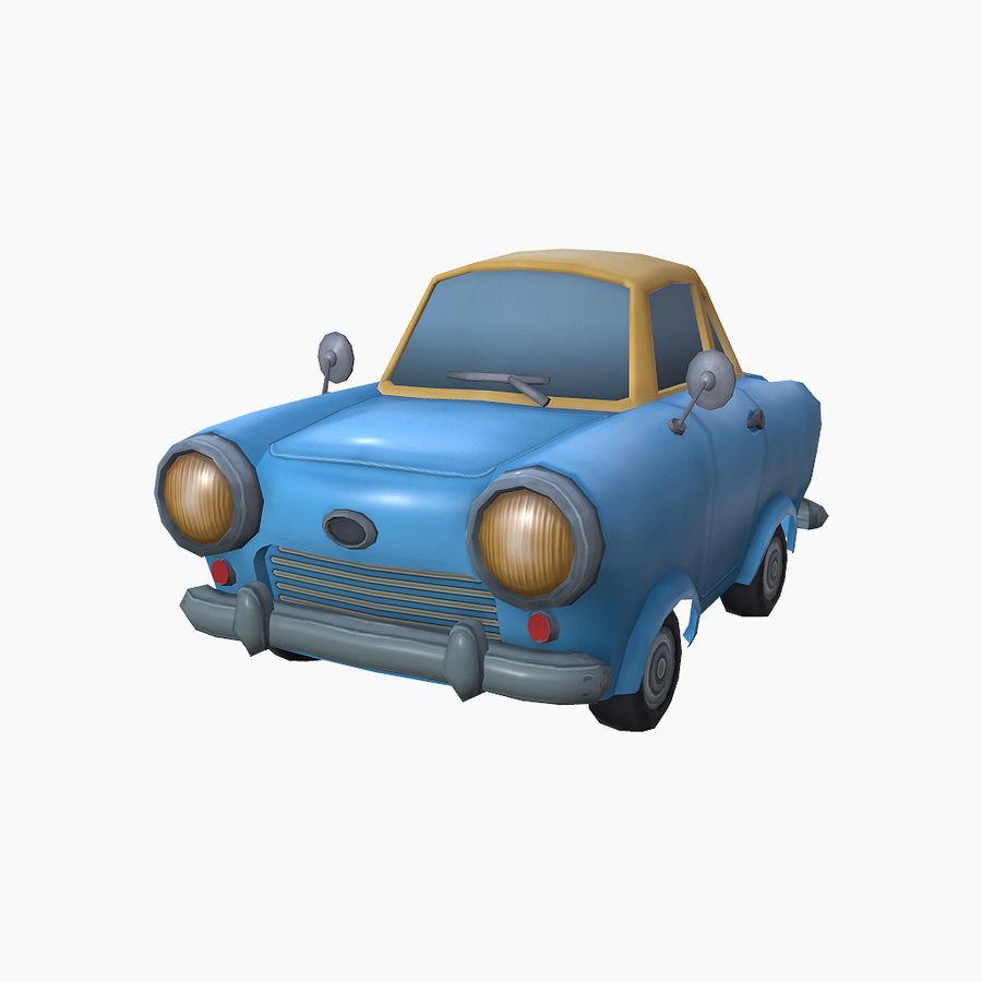 低ポリ漫画車 royalty-free 3d model - Preview no. 3