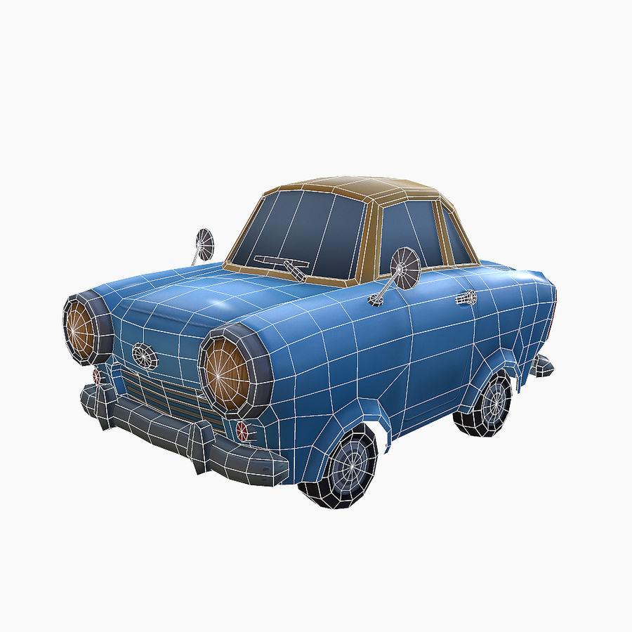 低ポリ漫画車 royalty-free 3d model - Preview no. 2