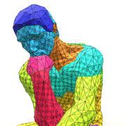 "Reproduce of sculpture ""Thinker"" 3d model"