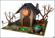 Witch House Cartoon 3d model