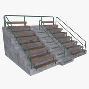Bleacher four full 3d model
