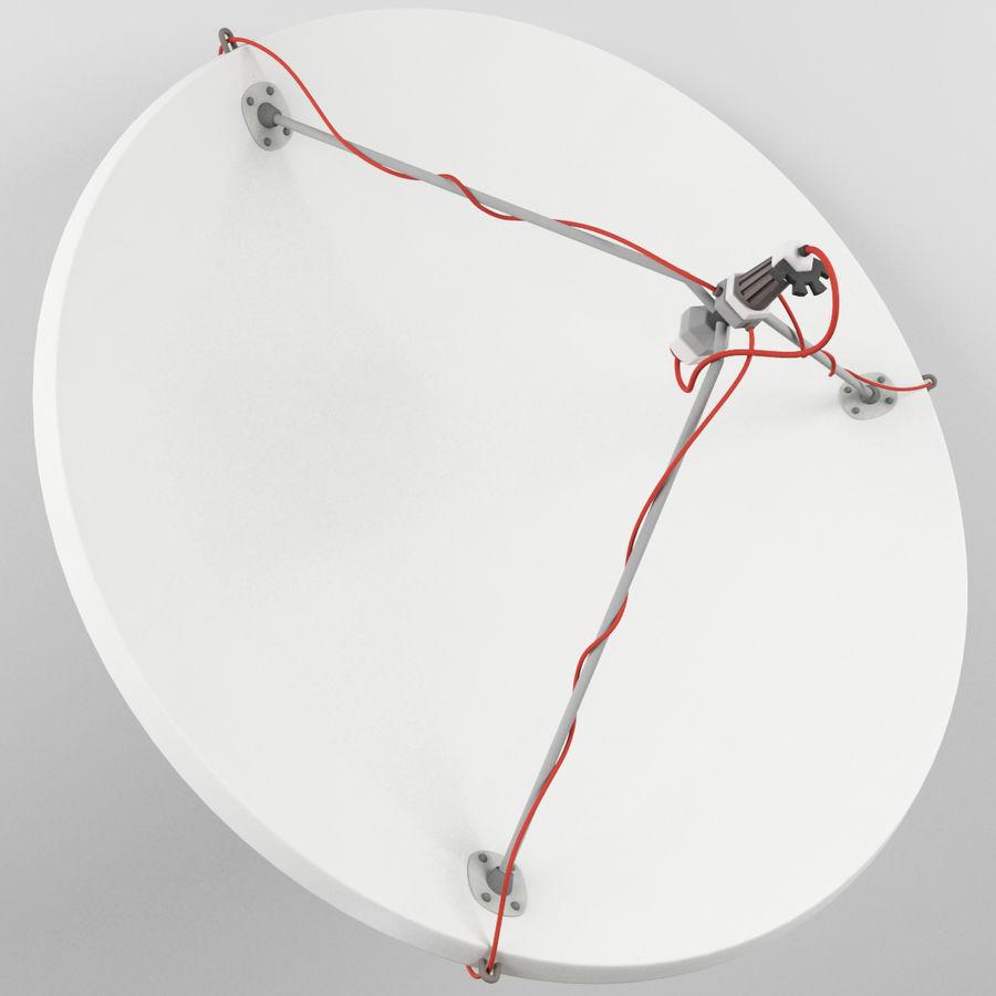 Antena parabólica royalty-free 3d model - Preview no. 3