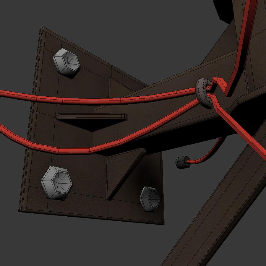 Antena parabólica royalty-free 3d model - Preview no. 10