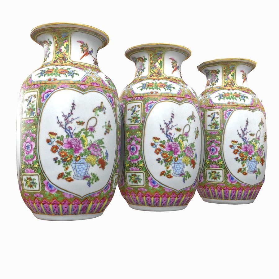 Floral Ornamental Vase Flower Amphora Architectural Decor Dekorative Topf Geschirr reich royalty-free 3d model - Preview no. 14