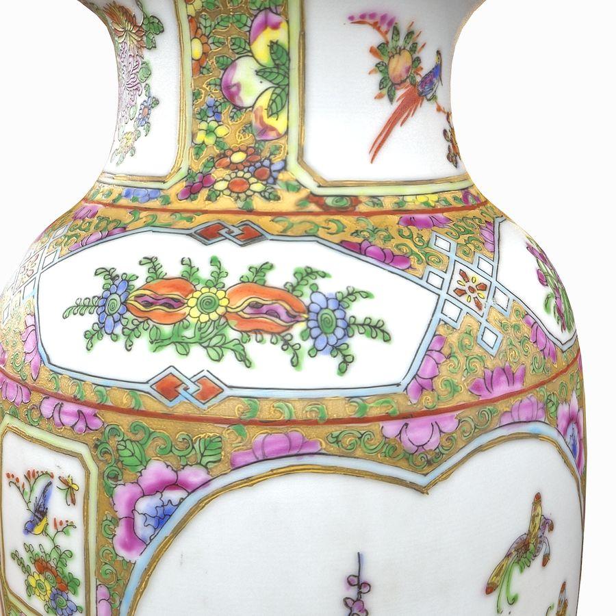 Floral Ornamental Vase Flower Amphora Architectural Decor Dekorative Topf Geschirr reich royalty-free 3d model - Preview no. 19
