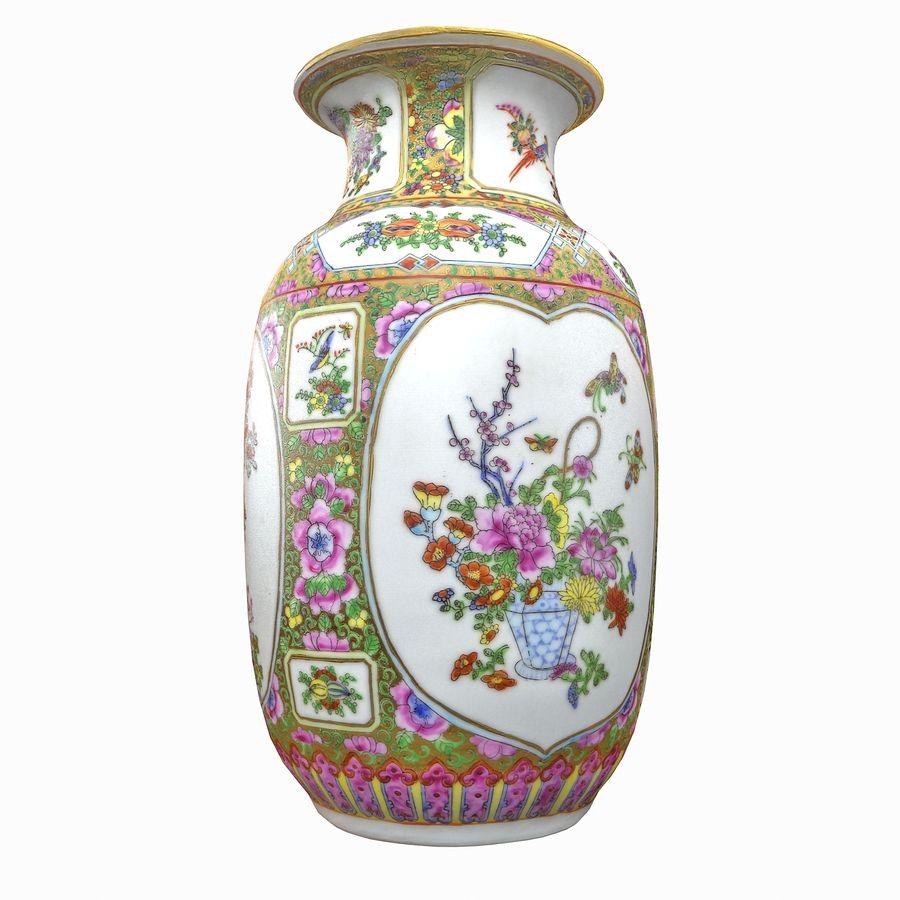 Floral Ornamental Vase Flower Amphora Architectural Decor Dekorative Topf Geschirr reich royalty-free 3d model - Preview no. 2