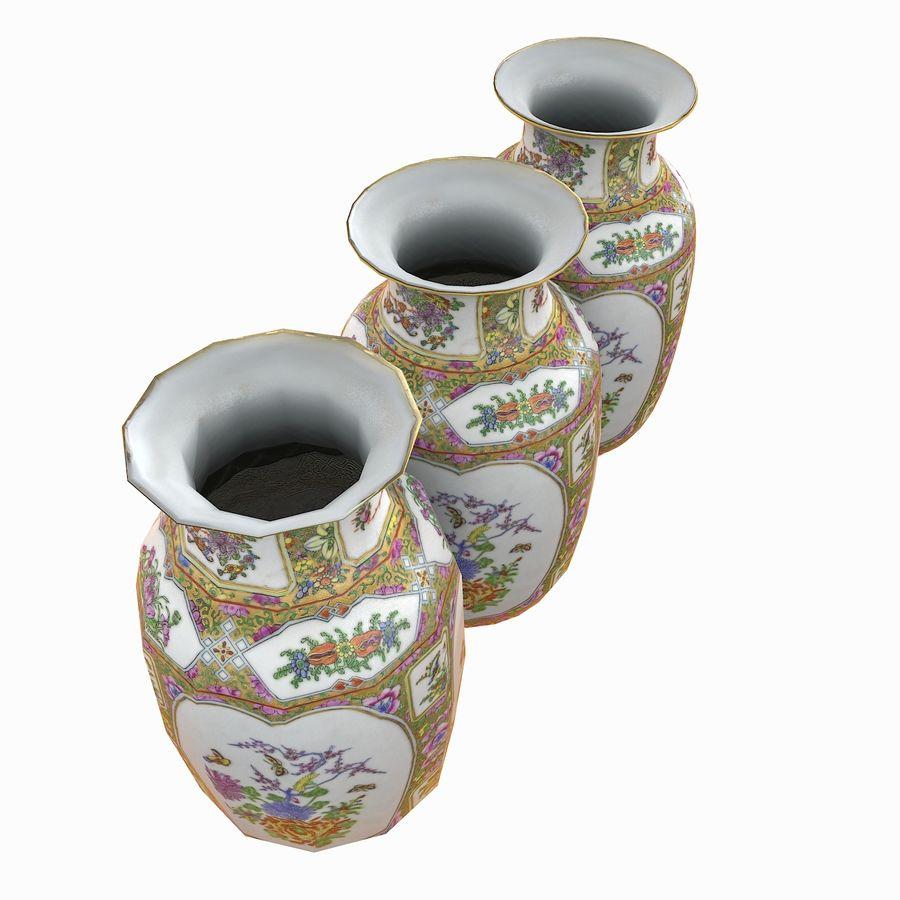 Floral Ornamental Vase Flower Amphora Architectural Decor Dekorative Topf Geschirr reich royalty-free 3d model - Preview no. 13