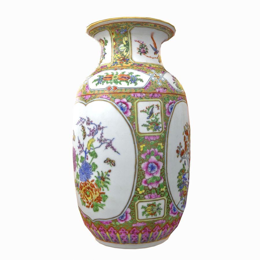 Floral Ornamental Vase Flower Amphora Architectural Decor Dekorative Topf Geschirr reich royalty-free 3d model - Preview no. 3