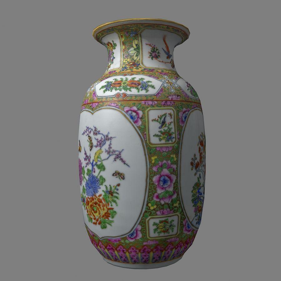 Floral Ornamental Vase Flower Amphora Architectural Decor Dekorative Topf Geschirr reich royalty-free 3d model - Preview no. 8