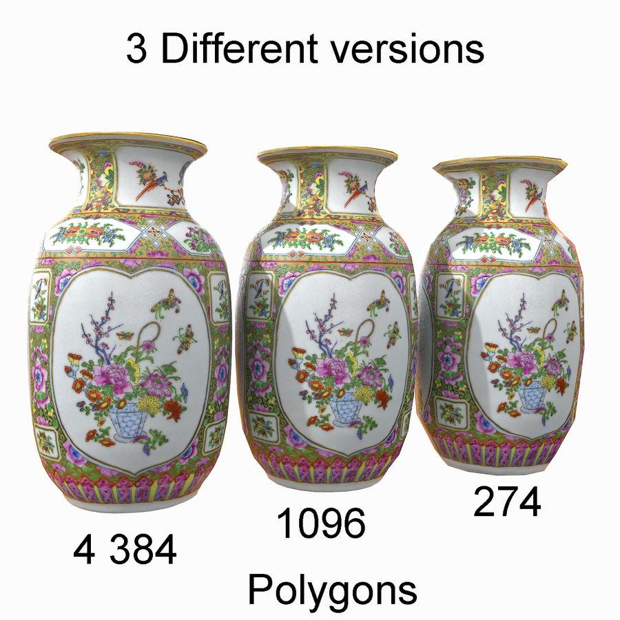 Floral Ornamental Vase Flower Amphora Architectural Decor Dekorative Topf Geschirr reich royalty-free 3d model - Preview no. 10