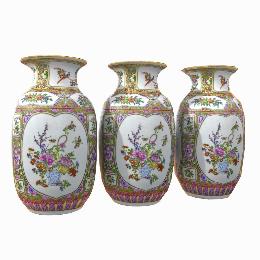 Floral Ornamental Vase Flower Amphora Architectural Decor Dekorative Topf Geschirr reich royalty-free 3d model - Preview no. 11