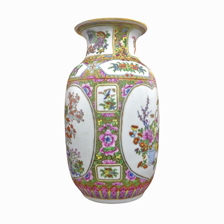 Floral Ornamental Vase Flower Amphora Architectural Decor Dekorative Topf Geschirr reich royalty-free 3d model - Preview no. 15