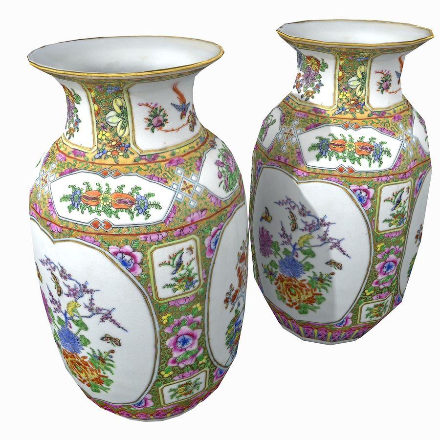 Floral Ornamental Vase Flower Amphora Architectural Decor Dekorative Topf Geschirr reich royalty-free 3d model - Preview no. 4