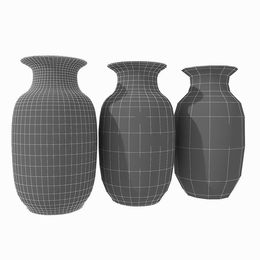 Floral Ornamental Vase Flower Amphora Architectural Decor Dekorative Topf Geschirr reich royalty-free 3d model - Preview no. 22