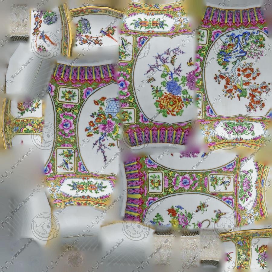 Floral Ornamental Vase Flower Amphora Architectural Decor Dekorative Topf Geschirr reich royalty-free 3d model - Preview no. 21