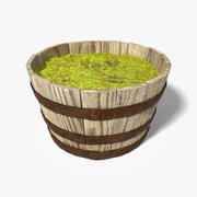 Oak Barrel Planter(1) 3d model