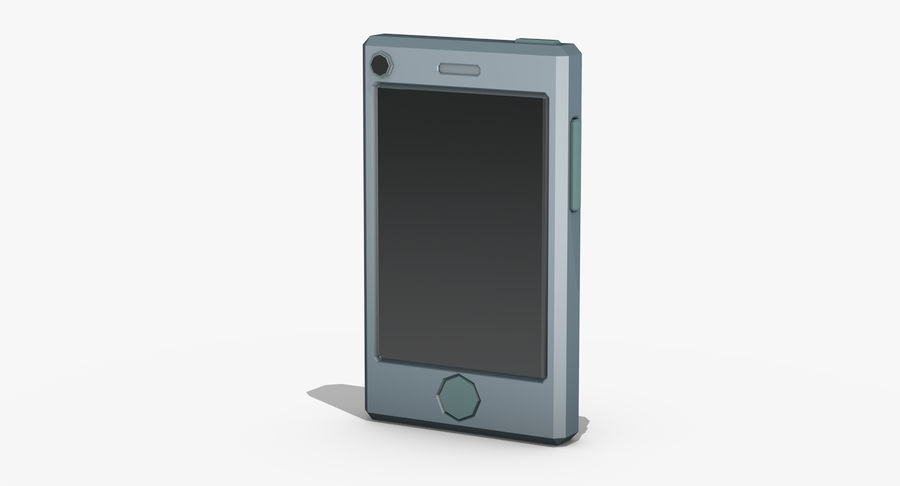Telefono cellulare stilizzato royalty-free 3d model - Preview no. 2