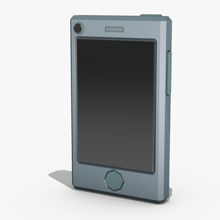 Telefono cellulare stilizzato royalty-free 3d model - Preview no. 1