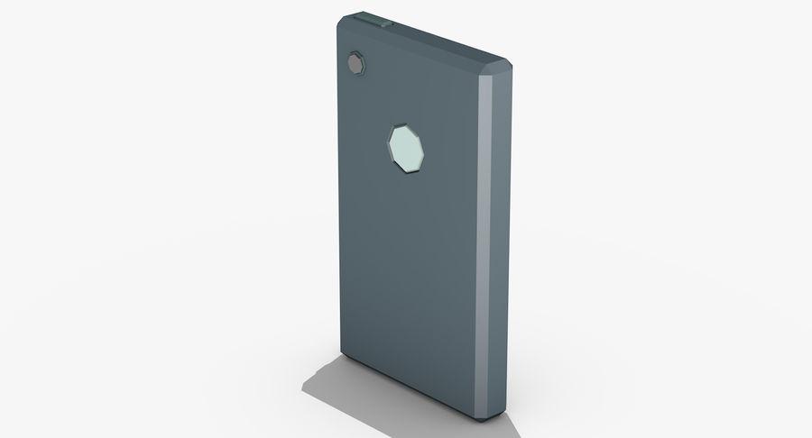 Telefono cellulare stilizzato royalty-free 3d model - Preview no. 7