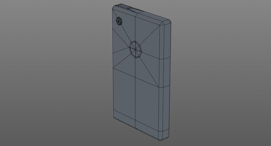 Telefono cellulare stilizzato royalty-free 3d model - Preview no. 12