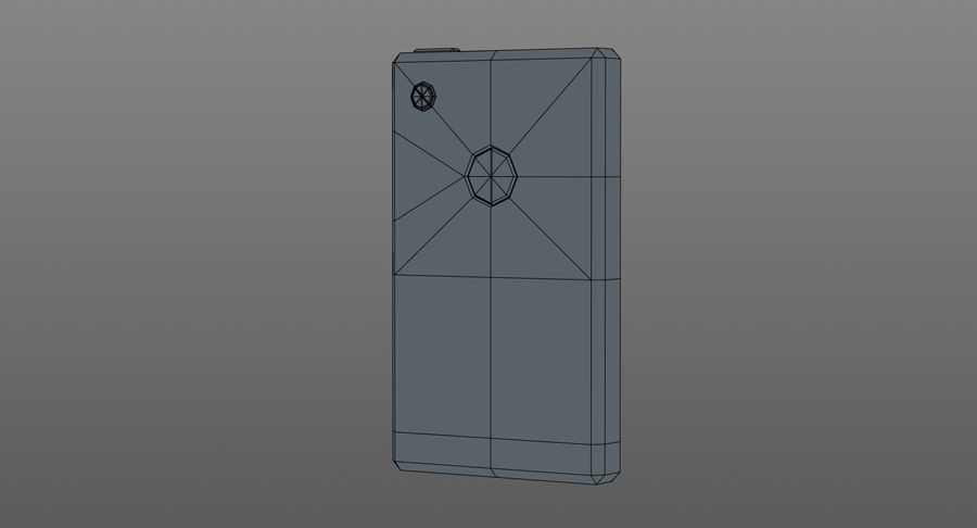 Telefono cellulare stilizzato royalty-free 3d model - Preview no. 10