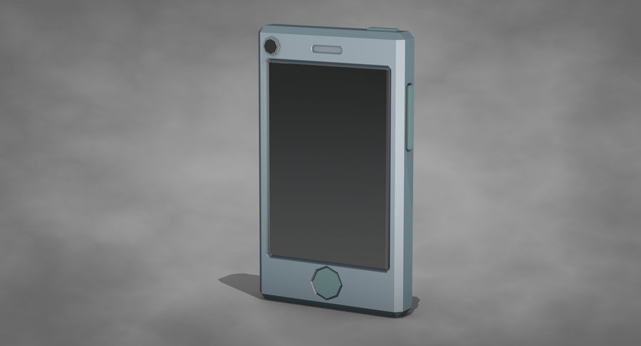 Telefono cellulare stilizzato royalty-free 3d model - Preview no. 3