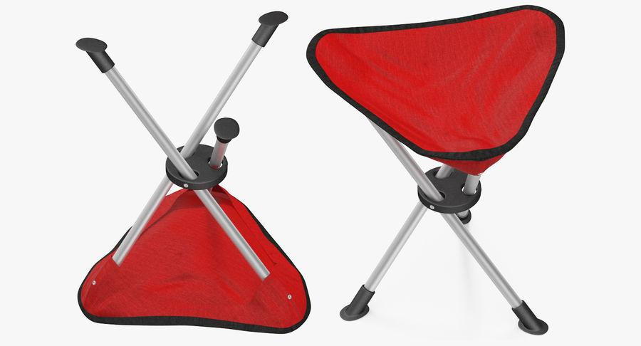 Fällbar stativ Fiske Campingstol Röd royalty-free 3d model - Preview no. 5
