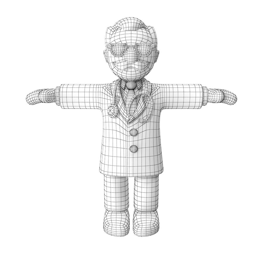 Doctor stickman royalty-free 3d model - Preview no. 12