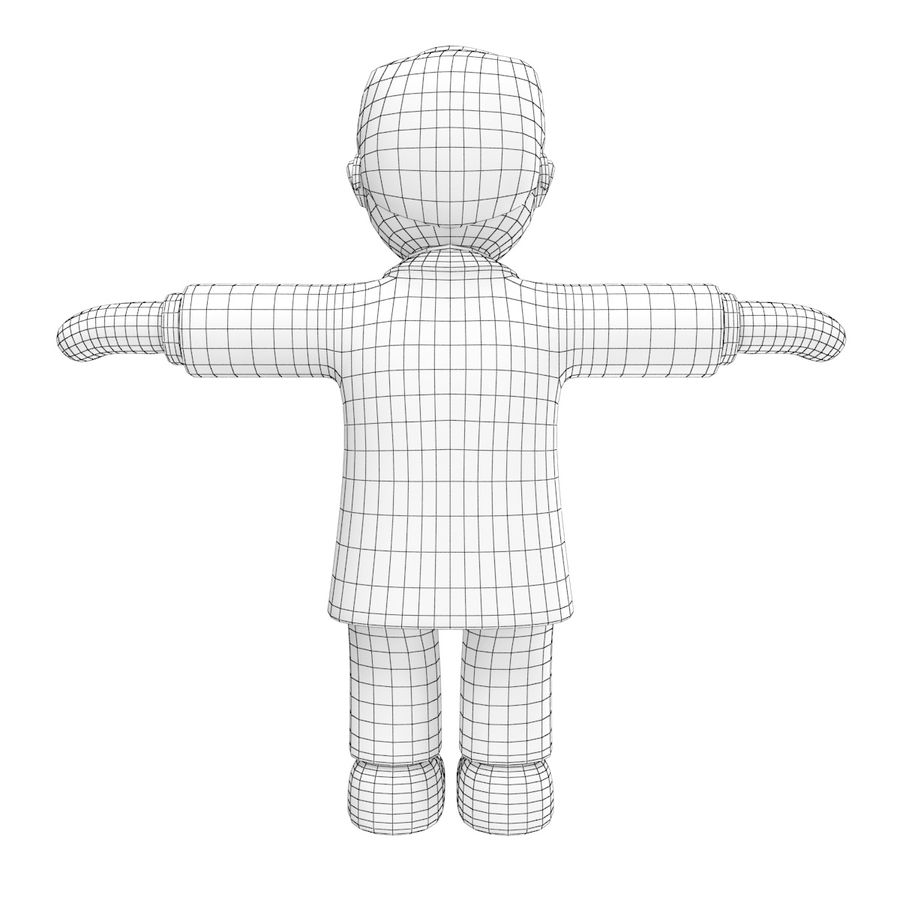 Doctor stickman royalty-free 3d model - Preview no. 13