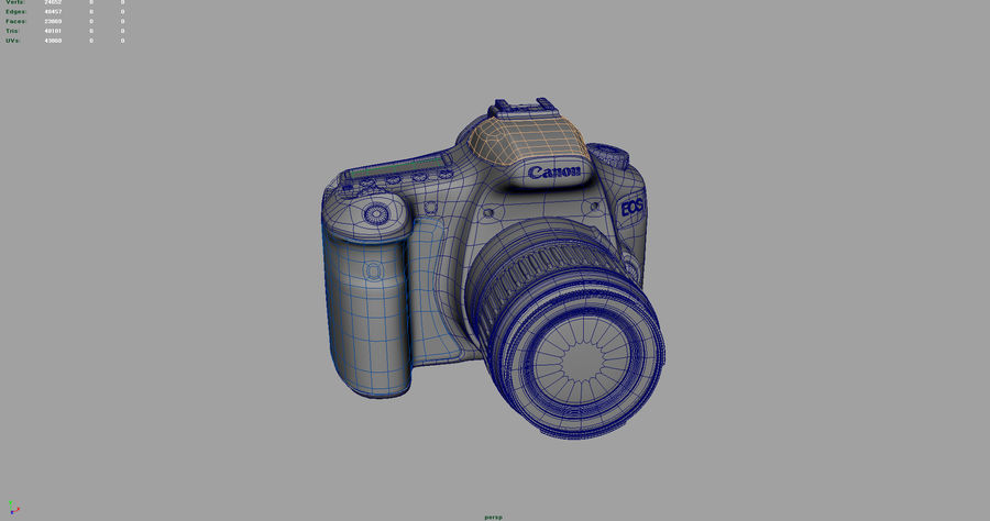 canon dslr kamera royalty-free 3d model - Preview no. 4