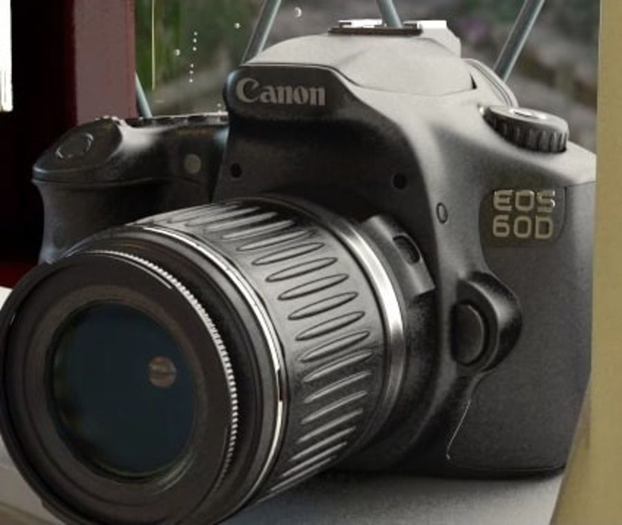 canon dslr kamera royalty-free 3d model - Preview no. 3