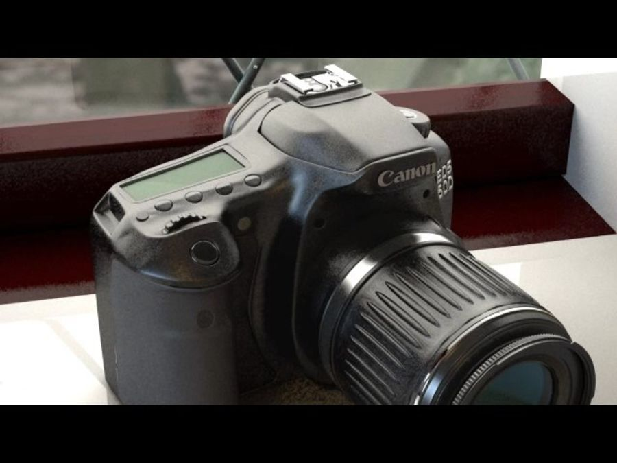 canon dslr kamera royalty-free 3d model - Preview no. 2